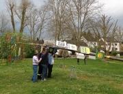 Maibaum 2012 in Hostenbach mit neuem Schild