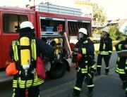 Sebastian Greiber bei der Jahreshauptübung der Freiwilligen Feuerwehr Wadgassen
