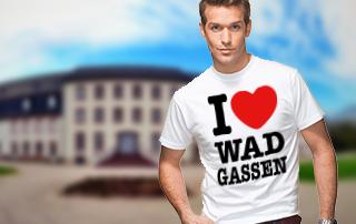 Kampagne unterstützen und das offizielle 'I love Wadgassen' Shirt geschenkt bekommen