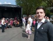 Sebastian Greiber bei der Eröffnung des Brunnenfest in Schaffhausen