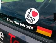 Auch 2013 ist das Rallye Team aus Wadgassen mit Stefan Wachs und Sebastian Greiber in Oberehe dabei. Dieses Jahr auch mit 'I love Wadgassen'