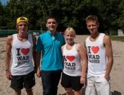 Beim Beachtennis-Turnier im Parkbad Wadgassen am vergangenen Wochenende war natürlich auch das I love Wadgassen Team dabei