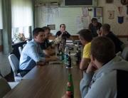Sebastian Greiber besucht die Freiwillige Feuerwehr Werbeln und diskutiert mit den Kameraden.