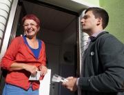 Seit dem 10. September 2013 macht der freie Bürgermeister Kandidat Sebastian Greiber seine Haustürbesuche in Friedrichweiler.