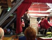 Sebastian Greiber beim Festakt zu 50 jahren Schülerorchester des Orchestervereins Wadgassen.