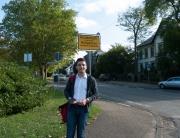 Nach Differten und Friedrichweiler ist der freie Kandidat Sebastian Greiber nun im Ortsteil Hostenbach unterwegs.
