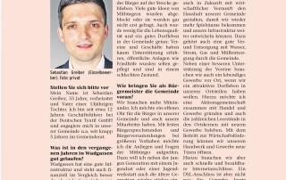 Sebastian Greiber im Interview im Wochenspiegel