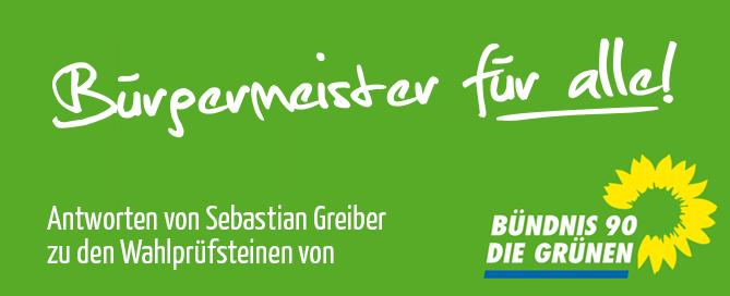 Sebastian Greiber beantwortet die Wahlprüfsteine zur Bürgermeister Wahl der Grünen Wadgassen