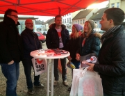 Sebastian Greiber am Informand zur Bürgermeister-Wahl in Wadgassen