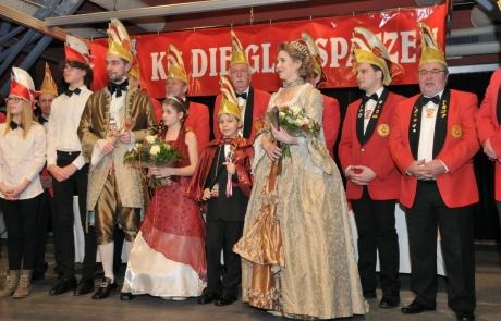 Sebastian Greiber als Elferrat bei der Neujahrsgala der KG Die Glasspatzen in Wadgassen