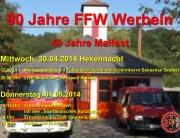 90 Jahre Freiwillige Feuerwehr Werbeln und 40 Jahre Maifest