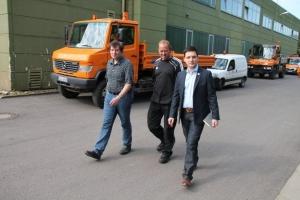 Bürgermeister Greiber besucht den Bauhof