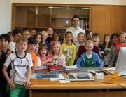 Schüler der Grundschule Schaffhausen besuchten Bürgermeister Greiber