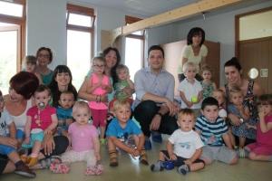 Bürgermeister Greiber besuchte die KiTa Pfiffikus in Hostenbach