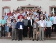 Verabschiedung der ausgeschiedenen und Begrüßung der neuen Mandatsträger im Abteihof Wadgassen durch Bürgermeister Greiber
