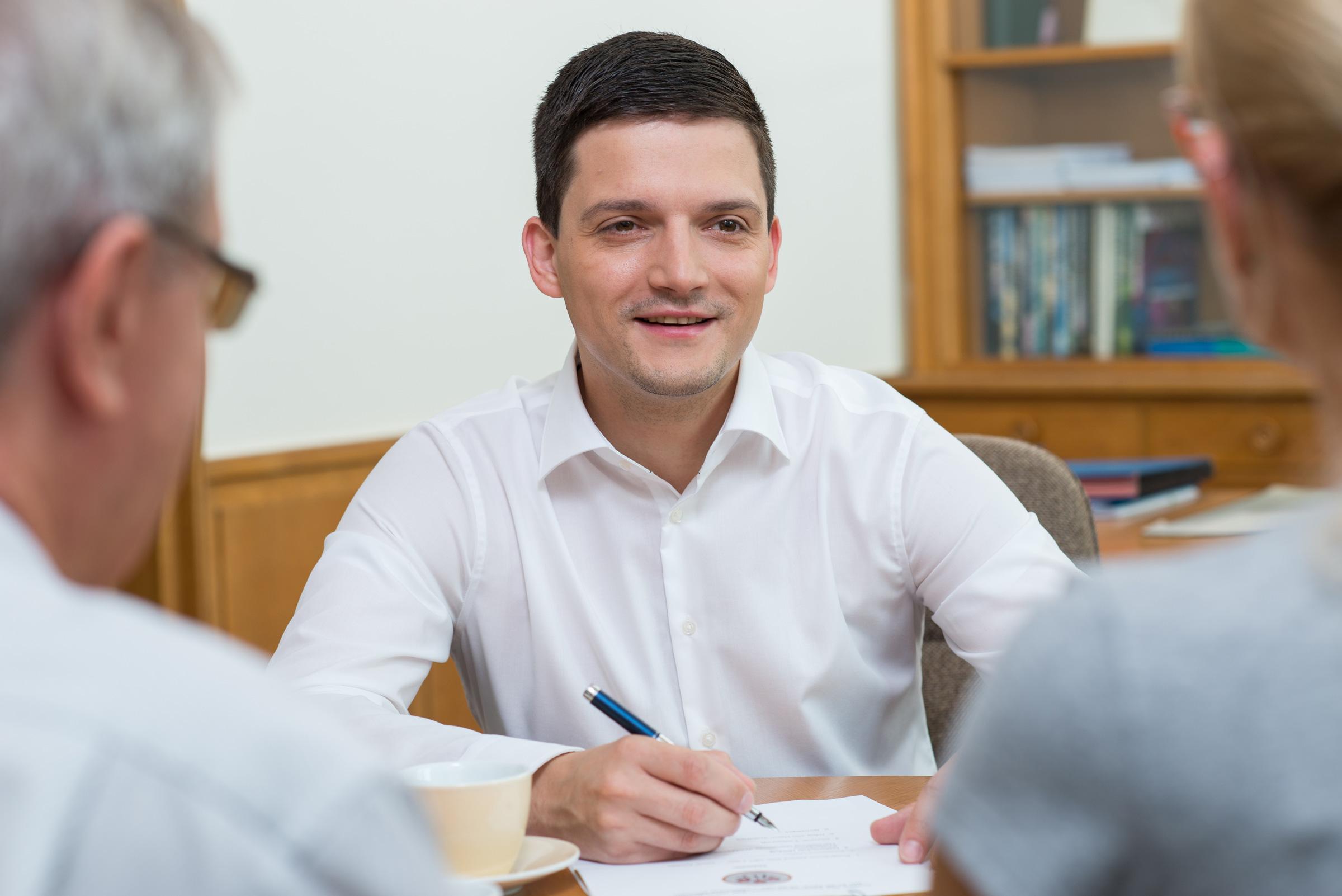 Bürgersprechstunde mit Bürgermeister Greiber im Rathaus Wadgassen