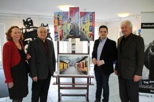 Eröffnung der Ausstellung von Angela Leinenbach und Werner Guthörl im Abteihof Wadgassen mit Bürgermeister Greiber