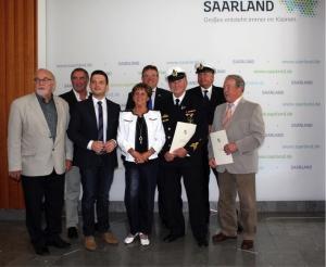 Auszeichnung mit Ehrenamtsnadel an 2 Mitbürger aus Wadgassen