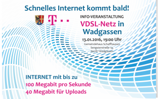 VDSL startet 2016 in Hostenbach, Schaffhausen und Wadgassen