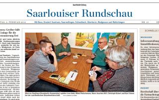 Saarbrücker Zeitung vom 2. Februar 2016