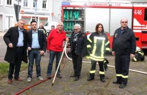 """""""Schenk mir Zeit"""" - die Feuerwehr Hostenbach macht den Startschuss zur Aktion in Wadgassen"""
