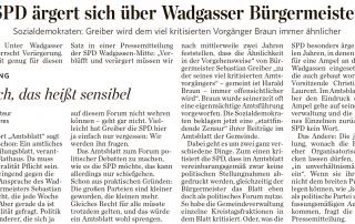 Zum Verwechseln ähnlich? SPD Wadgassen vergleicht Bürgermeister Greiber mit ehemaligen SPD-Bürgermeister