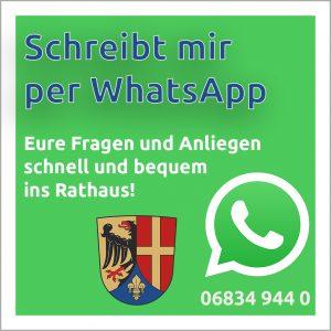 Schreib mir per WhatsApp: +49 6834 9440