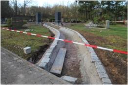 Friedhof Schaffhausen: Die Wege sind bereits im Bau