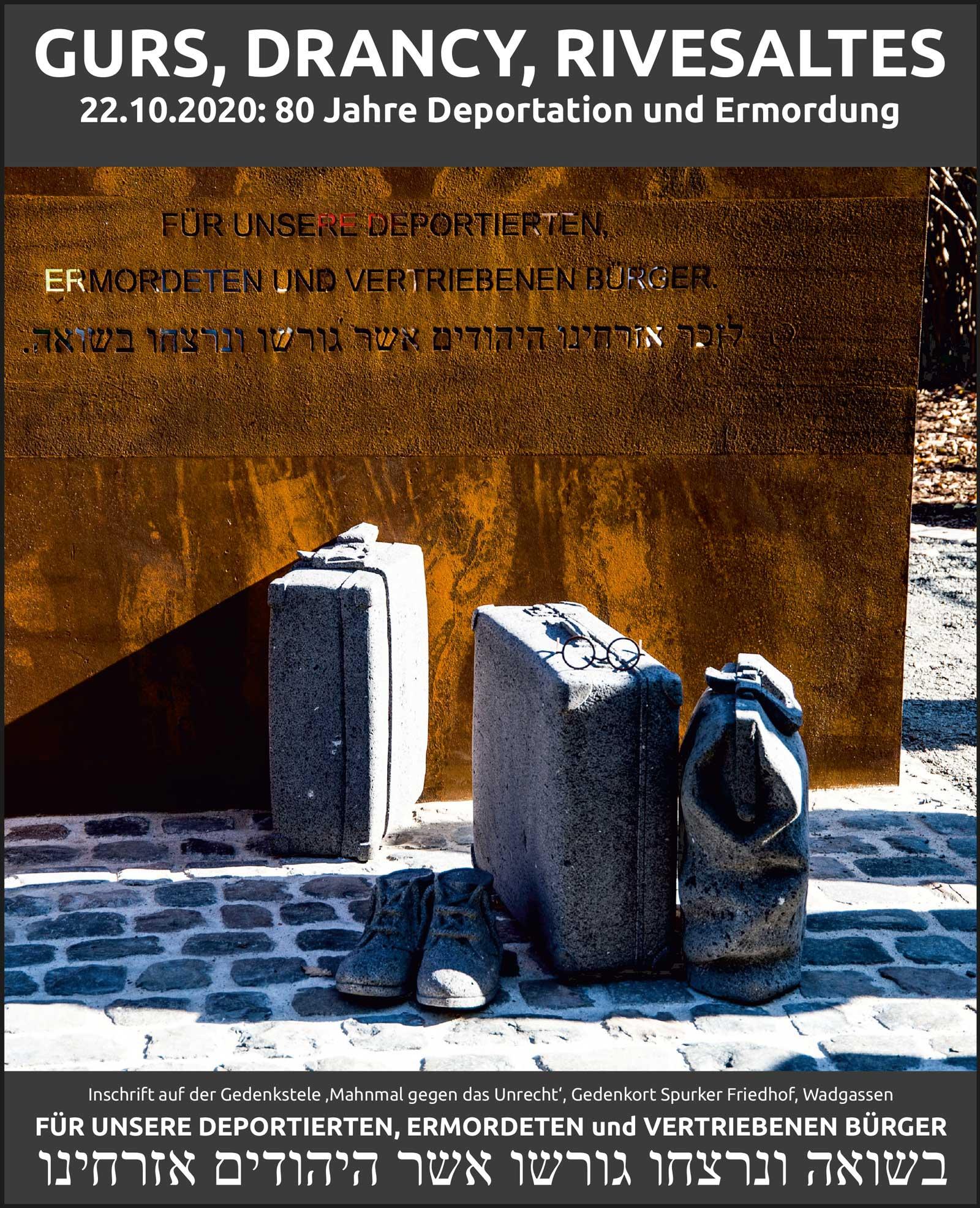 Gurs, Drancy, Rivesaltes: Aufarbeitung und Erinnerung an die Deportation vor 80 Jahren darf nicht aufhören