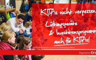 Greiber: KITAs nicht vergessen!